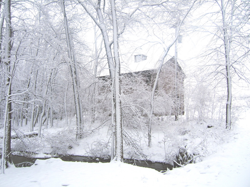 The mill settling in for winter