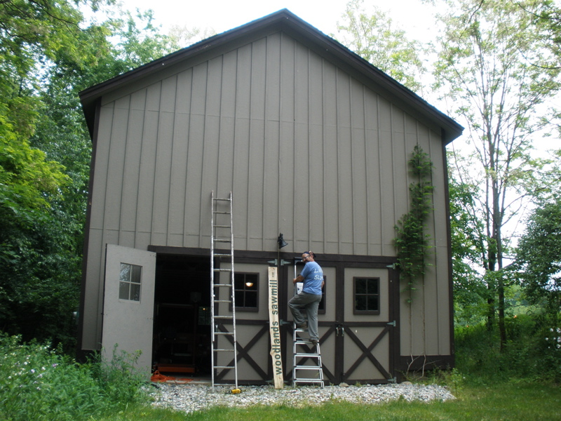 Preparing the barn for opening...